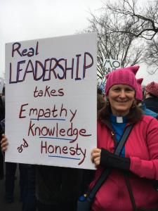 Rev Robin at DC Women's March